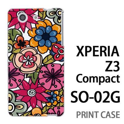 XPERIA Z3 Compact SO-02G 用『0618 トロピカルフラワー』特殊印刷ケース【 xperia z3 compact so-02g so02g SO02G xperiaz3 エクスペリア エクスペリアz3 コンパクト docomo ケース プリント カバー スマホケース スマホカバー】の画像