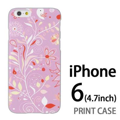 iPhone6 (4.7インチ) 用『0624 紫の花』特殊印刷ケース【 iphone6 iphone アイフォン アイフォン6 au docomo softbank Apple ケース プリント カバー スマホケース スマホカバー 】の画像
