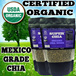 $3 COUPON★FRESH STOCK PROMO ★GUARANTEED HIGHEST QUALITY IN QOO10★ TWIN PACK CHIA (1KG)USDA Certified