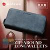 魅革 mikawa tokyo 日本製 オイルドヌバックレザー メンズ 本革 財布 2つ折り 長財布 カーフレザー レザー ジップアラウンド財布