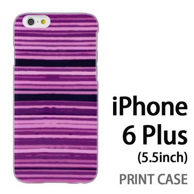iPhone6 Plus (5.5インチ) 用『No4 かすれボーダー 紫』特殊印刷ケース【 iphone6 plus iphone アイフォン アイフォン6 プラス au docomo softbank Apple ケース プリント カバー スマホケース スマホカバー 】の画像