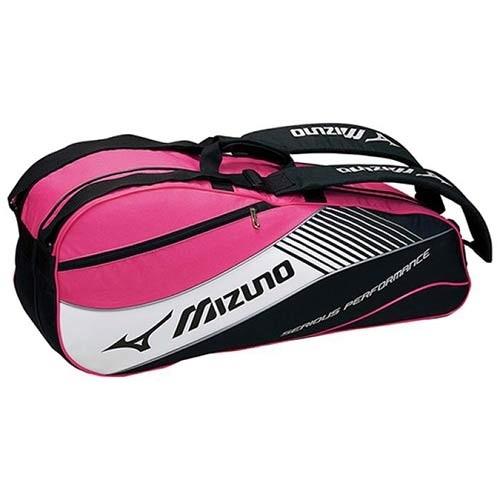 【クリックで詳細表示】◆即納◆ミズノ(MIZUNO) ラケットバッグ 6本入用 Fサイズ 63MD500397 ブラック×ピンク 【テニス エナメルバッグ 遠征用バッグ】