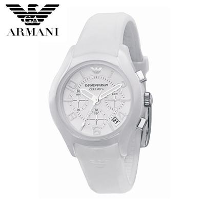 【クリックで詳細表示】EMPORIO ARMANI エンポリオ アルマーニ セラミック メンズ 腕時計 AR1431 ホワイト 白 クロノグラフ クオーツ カジュアルウォッチ