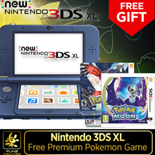 [FunzCentre] Nintendo 3DS XL Promotion. Charging Cable Included with Free Premium Pokemon Game. Free Qxpress Delivery! 12 Months MaxSoft Warranty! While Stocks Last!