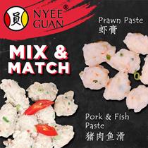 Nyee Guan Special Bundle ! Prawn Paste [250g] + Pork and Fish Paste [250g] (frozen)