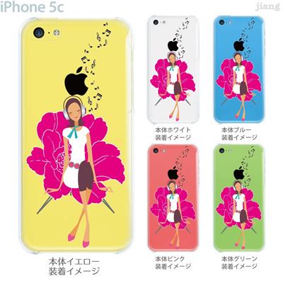 【iPhone5c】【iPhone5cケース】【iPhone5cカバー】【ケース】【カバー】【スマホケース】【クリアケース】【クリアーアーツ】【Clear Arts】【音楽を聴くガール】 22-ip5c-ca0106の画像