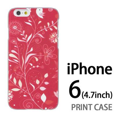 iPhone6 (4.7インチ) 用『0624 赤い花』特殊印刷ケース【 iphone6 iphone アイフォン アイフォン6 au docomo softbank Apple ケース プリント カバー スマホケース スマホカバー 】の画像