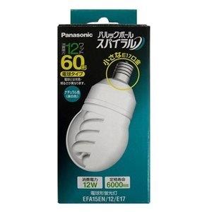 【クリックで詳細表示】パナソニック 電球形蛍光灯 《パルックボール スパイラル》 A形 60Wタイプ E17口金 昼白色 EFA15EN12E17