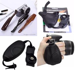 PU Leather Camera Wrist Strap Belt For DSLR / Mirrorless