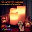 ★安心国内無料発送★ 「12色LEDキャンドルライト」(3本セット)プレゼントにも最適! いいムードの演出や色鮮やかなライトで寝室の飾りに適合!LED照明 ロマンチック