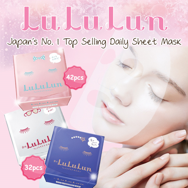 $9 COUPONJapan Top Selling Daily Mask?Lululun Facial Mask?Hokkaido?42 /32 Sheet?Moisture?Jpn Deals for only S$29.9 instead of S$0