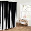 シンプルな黒と白のファブリックバスルームシャワーカーテンライナーポリエステル防水