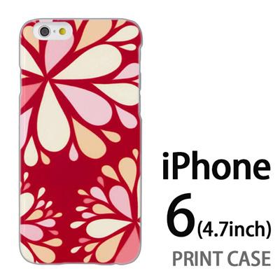 iPhone6 (4.7インチ) 用『0624 赤色花火』特殊印刷ケース【 iphone6 iphone アイフォン アイフォン6 au docomo softbank Apple ケース プリント カバー スマホケース スマホカバー 】の画像