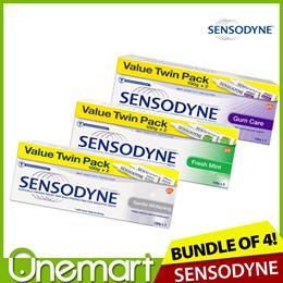 [SENSODYNE] CHOOSE ANY 2! ★ 4 x 100g Value Pack Toothpaste ★ Fresh Mint/Gentle Whitening/Gum Care