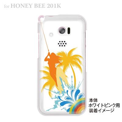 【HONEY BEE ケース】【201K】【Soft Bank】【カバー】【スマホケース】【クリアケース】【クリアーアーツ】【海のパラダイス】 08-201k-ca0070の画像