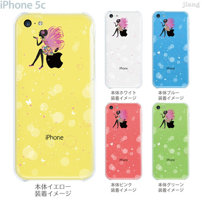 【iPhone5c】【iPhone5cケース】【iPhone5cカバー】【iPhone ケース】【クリア カバー】【スマホケース】【クリアケース】【イラスト】【フラワー】【シャボン玉とフェアリー】 22-ip5c-ca0111の画像