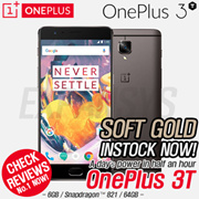 [ONLY 1 DAY!] [Soft Gold Instock!!!!] OnePlus 3T 6GB + 64GB OxygenOS 3.5 Qualcomm® Snapdragon 821 A3010 (2.35 GHz)