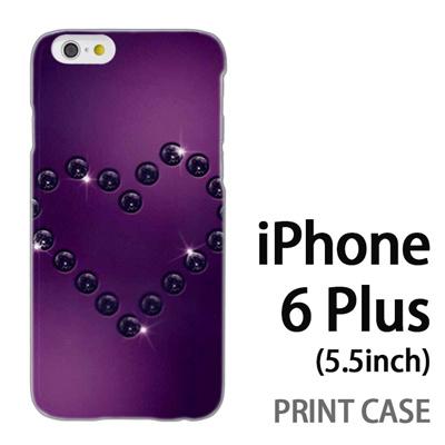 iPhone6 Plus (5.5インチ) 用『No4 ダイヤハート 紫』特殊印刷ケース【 iphone6 plus iphone アイフォン アイフォン6 プラス au docomo softbank Apple ケース プリント カバー スマホケース スマホカバー 】の画像