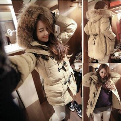 手触り良いふわふわファーフード付超暖かいジャケット/今旬のアウターで冬のスタイルを完成コート★優しいファーに包まれて温もりを感じてね★秋冬の必須アイテムの画像