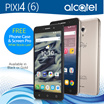 NEW ALCATEL PIXI4 (6 inch) | 4G LTE Smartphone | Double Flash Camera | IPS HD Screen | One Year Distributor Warranty
