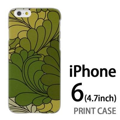 iPhone6 (4.7インチ) 用『0624 緑の葉』特殊印刷ケース【 iphone6 iphone アイフォン アイフォン6 au docomo softbank Apple ケース プリント カバー スマホケース スマホカバー 】の画像
