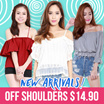 [CarrisLabelle] Off Shoulder Tops assorted design