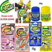Cyberclean germ killer for toys and computer cleaning and disinfecting