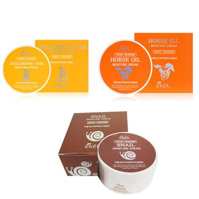 イケル[韓国コスメEkel]プレミアムクリム3種類ヒアルロン酸モイスチャクリム、馬油水分クリム、カタツムリモイスチャクリム韓国化粧品送料無料