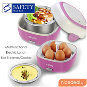 Electric Lunch Box - Safety Mark Approved Multifunctional Cook Steam  Warm Up Food!