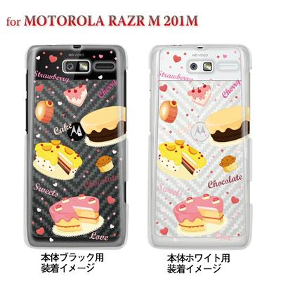 【MOTOROLA RAZR M 201M】【Soft Bank】【ケース】【カバー】【スマホケース】【クリアケース】【スイーツ】 09-201m-sw0004の画像