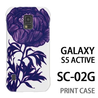 GALAXY S5 Active SC-02G 用『0911 牡丹 白』特殊印刷ケース【 galaxy s5 active SC-02G sc02g SC02G galaxys5 ギャラクシー ギャラクシーs5 アクティブ docomo ケース プリント カバー スマホケース スマホカバー】の画像