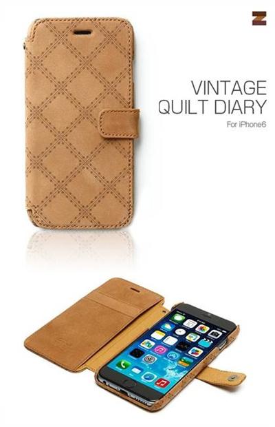 iPhone6カバーアイホン6 アイフォン6ケースiphoneケース アイフォン ブランド iphoneカバーiPhone6用 【iPhone6 4.7インチ 】ZENUS Vintage Quilt Diary(ビンテージキルトダイアリー)【メール便送料無料】の画像