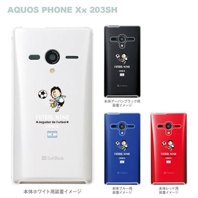 【AQUOS PHONEケース】【203SH】【Soft Bank】【カバー】【スマホケース】【クリアケース】【サッカー】【アルゼンチン】 10-203sh-fca-ar01の画像