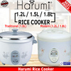 Harumi 1.2L / 1.5L / 1.8L Rice Cooker from only $19.90!!! (Limited Sets Available)