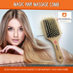 Magic Hair Massage Comb Recommended for Scalp Massage and Makes Your Hair Silky and Healthier!