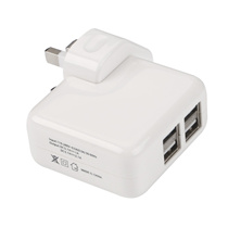 HOT 4 Ports USB Multi Adapter Travel Wall AC Power Charger with UK Plug White