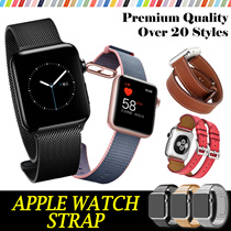 [JD] iWatch Strap★42mm 38mm modern buckle band with magnetic closure Wrist Leather Strap Smartwatch