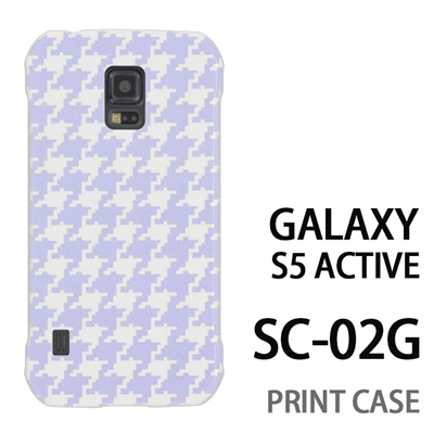 GALAXY S5 Active SC-02G 用『0912 千鳥柄 水白』特殊印刷ケース【 galaxy s5 active SC-02G sc02g SC02G galaxys5 ギャラクシー ギャラクシーs5 アクティブ docomo ケース プリント カバー スマホケース スマホカバー】の画像