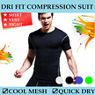 DRI FIT COMPRESSION SUIT / SPORT WEAR CORE FITTED VEST SHIRT TIGHTS COOL MESH / QUICK DRY FOR TRAINING / CYCLING / GYM / RUNNING / JOGGING