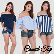 ★26 Sept Update★Casual Tops★Off Shoulder Tops★Ladies Trendy Fashionable Embroidery/Lace/Sleeve Tops. Best Price! Fast Delivery!