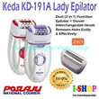 Keda Epilator KD191-A/ Rechargeable 2 in 1 Lady Epilator and Shaver/ Epilators Hair Remover/ *Malaysian Seller