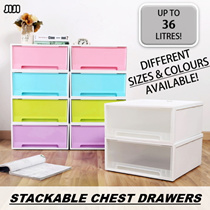 ◣STORAGE◥ ★STACKABLE CHEST DRAWERS ★Storage Closet ★Storage Drawer ★Container ★Plastic ★Home Organization ★Home Decoration ★Fast Delivery