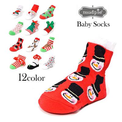マッドパイ Mud Pie ベビーソックス/靴下 0-12m(0~12ヶ月) HOLYDAY SOCKS 131242 クリスマス ベビー用品 赤ちゃん ベビーグッズ 出産祝い 通販の画像
