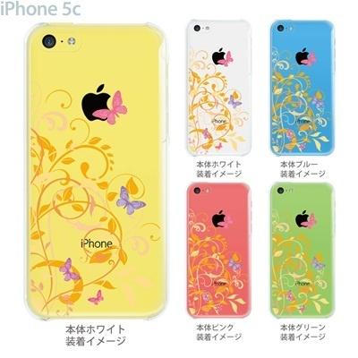 【iPhone5c】【iPhone5cケース】【iPhone5cカバー】【ケース】【カバー】【スマホケース】【クリアケース】【フラワー】【花と蝶】 22-ip5cp-ca0081の画像