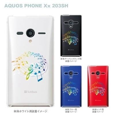 【AQUOS PHONEケース】【203SH】【Soft Bank】【カバー】【スマホケース】【クリアケース】【ミュージック】 09-203sh-mu0005の画像
