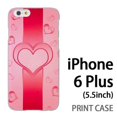 iPhone6 Plus (5.5インチ) 用『No4 ハートライン ピンク』特殊印刷ケース【 iphone6 plus iphone アイフォン アイフォン6 プラス au docomo softbank Apple ケース プリント カバー スマホケース スマホカバー 】の画像
