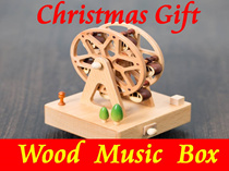 【Christmas Gift】★2016 Latest Wood Music Box★World landmark/Ferris wheel/Merry-go-round/Birthday Cake/