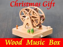 【Christmas Gift】★2016 Latest Wood Music Box★World landmark/Ferris wheel/Merry-go-round/Birthday Cake/