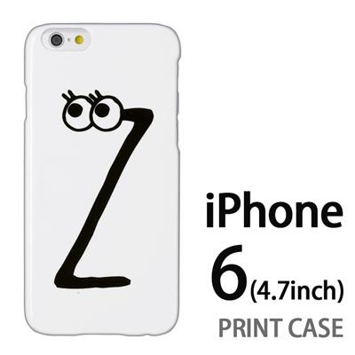 iPhone6 (4.7インチ) 用『0626 「Z」』特殊印刷ケース【 iphone6 iphone アイフォン アイフォン6 au docomo softbank Apple ケース プリント カバー スマホケース スマホカバー 】の画像