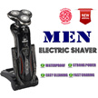 [2016 NEWEST MODEL] 4D Electric Shaver * 100% WATER PROOF * FREE 3 MONTHS WARRANTY * Sharp Razor Blade *Standing Dock * Rinsable Washable * Triple Microcomb Blades * Facial hair trimmer cutter *